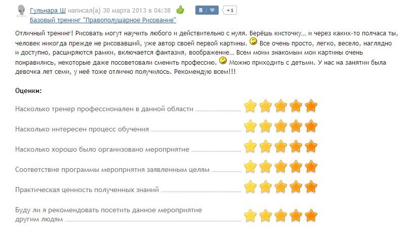 Отзыв Гульнара Ш Казань (самопознание)