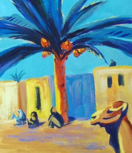 Финиковая пальма (по картине М. Сарьяна)