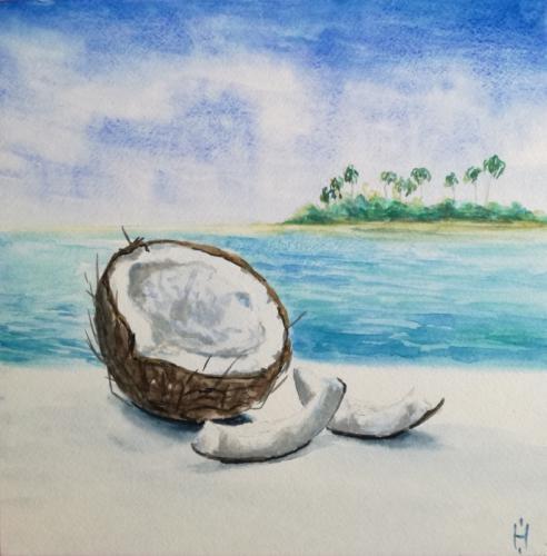 Натюрморт с кокосом