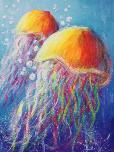 Яркие медузы