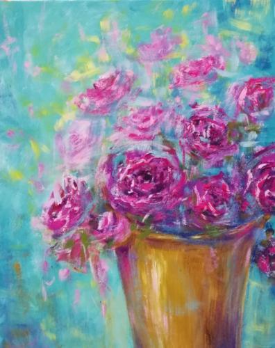 Кувшин с цветами