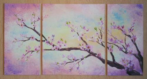 Ветка сакуры (триптих)