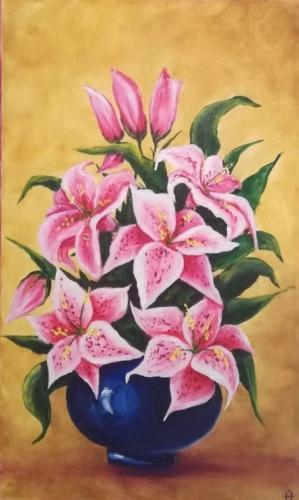 Naturmort s liliyami